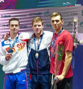 Серебряная медаль на XIII международных соревнованиях по плаванию «Кубок Владимира Сальникова»