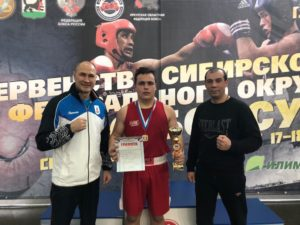Золотая медаль на Первенстве СФО по боксу