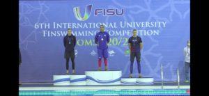 Медали на международных университетских соревнованиях по плаванию в ластах